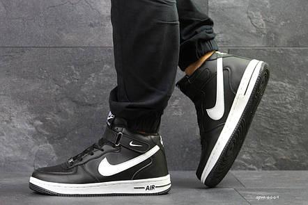 Высокие зимние кроссовки Nike air Force,черно-белые, на меху, фото 2 b68b8ab7643