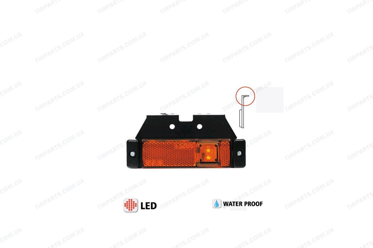 Фонарь габаритный LED новый тип , с кронштейном , желтый (YP-140Y)