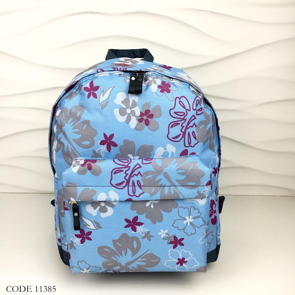 Рюкзак детский текстиль цветочный 11385