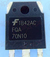 MOSFET N-канал 100В 70А 23мОм Fairchild FQA70N10 TO247