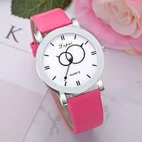 Женские наручные часы Lvpai 80615-3 | Белые с розовым ремешком
