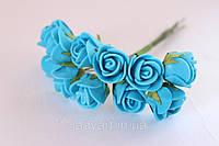Розочка латексная, голубая.