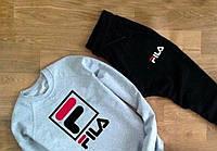 """спортивный костюм FILA ( серый ) Большое лого """""""" В стиле Fila """""""""""