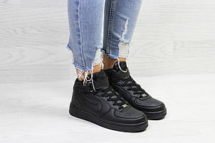 Высокие зимние кроссовки Nike Air Force,черные, фото 2