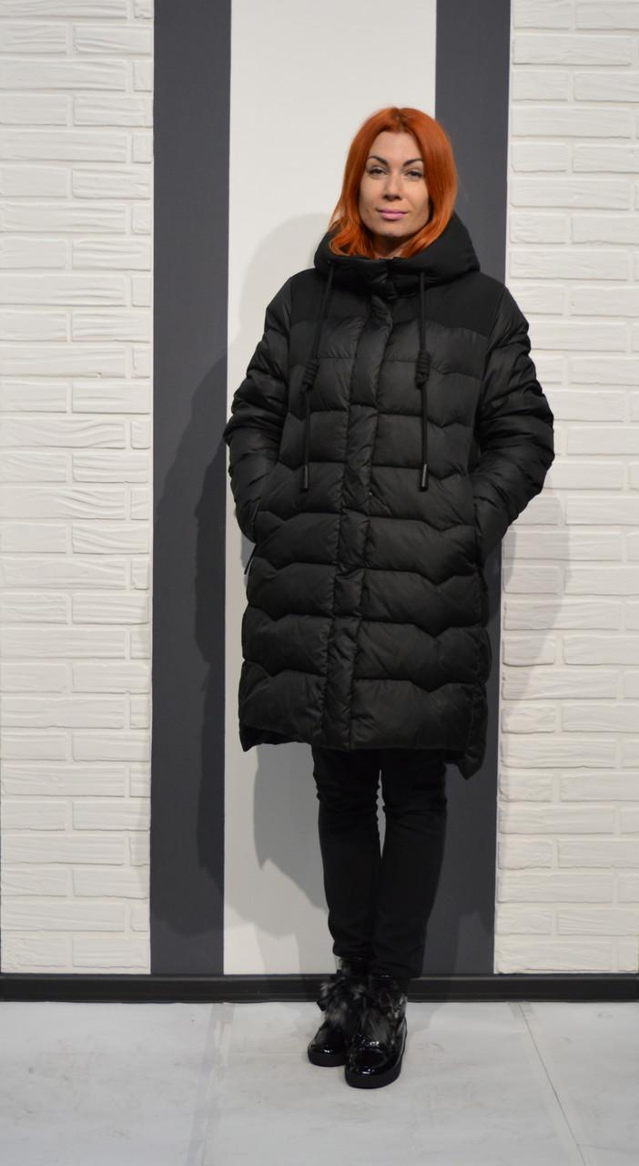 Пуховик черный CLASNA 006