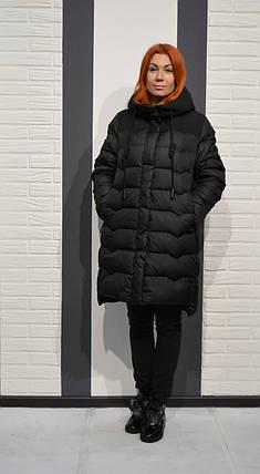Пуховик черный CLASNA 006, фото 2