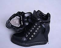 Зимние кожаные ботинки сникерсы