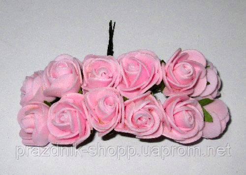 Розочка мини, розовая.