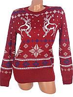 Женские свитера с оленями (в расцветках)