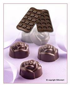 "Форма для шоколада ""Розы"" Ø 28 мм h 18 мм Silikomart"