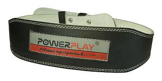 Пояс Powerplay 5085 Черный [натуральная кожа]