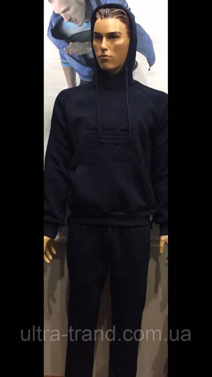 Тёплые брендовые турецкие мужские спортивные костюмы Adidas