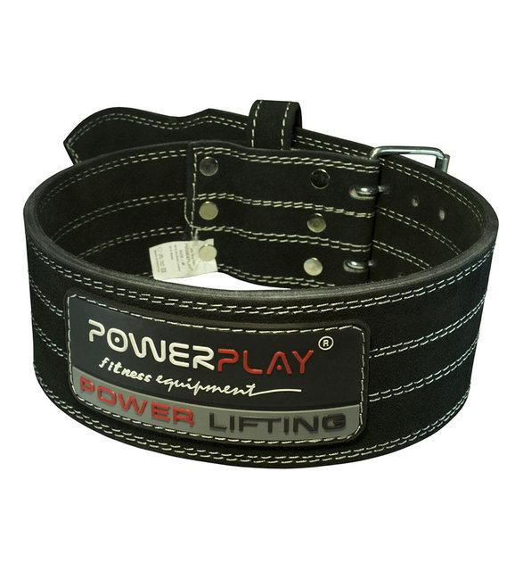 Пояс PowerPlay 5150 Черный [натуральная кожа]