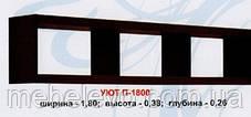 Полка П-1800 Уют ДСП   380х1800х260мм  Абсолют, фото 3