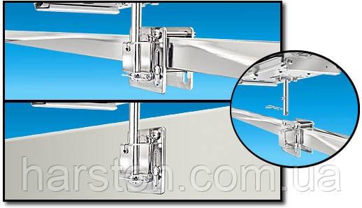 Крепление для гриля или стола на трубу или вертикальную поверхность