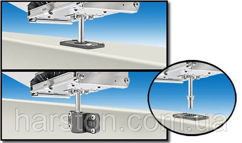 Крепление для гриля или стола к держателю спининга