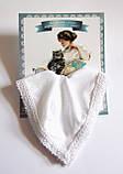 Носовой платок подарочный белый, фото 2