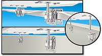 Крепление для гриля или стола на квадратную трубу или вертикальную поверхность