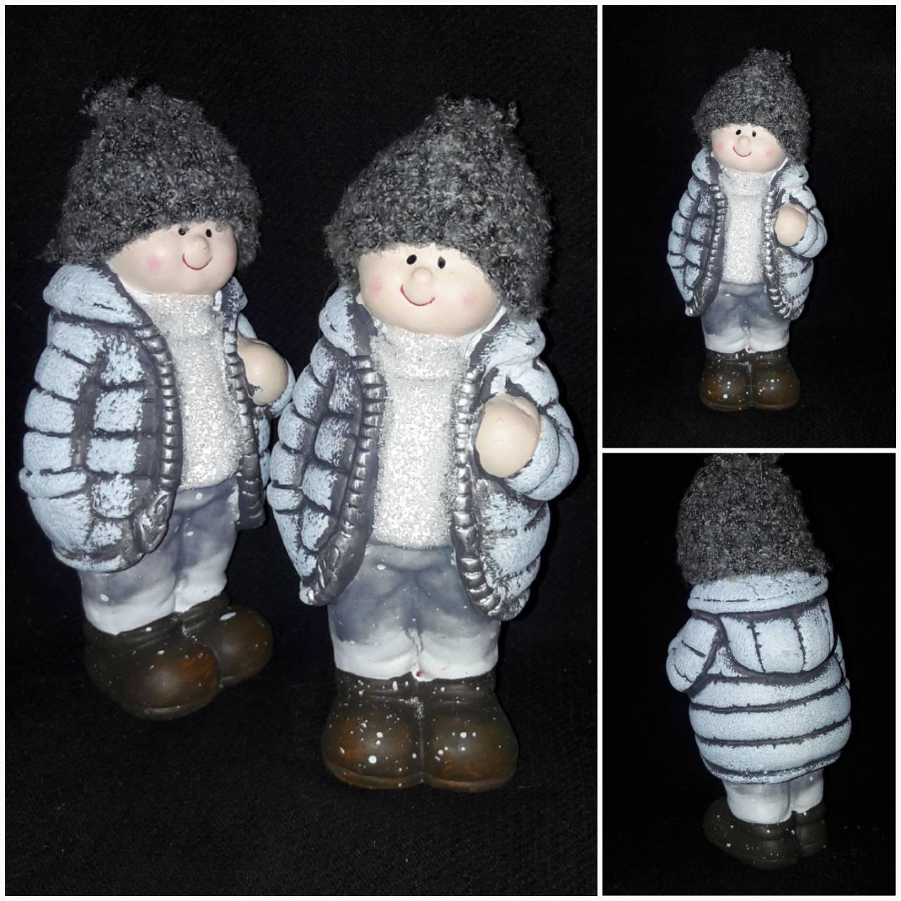 """Поликерамическая статуэтка """"Мальчик в шапке"""", выс. 17 см., 135 гр."""