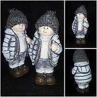 """Поликерамическая статуэтка """"Мальчик в шапке"""", выс. 17 см., 135 гр., фото 1"""