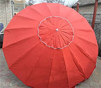 Пляжный зонт, торговый зонтик, садовый, диаметр 3,5м, круглый, зонт 12, красный