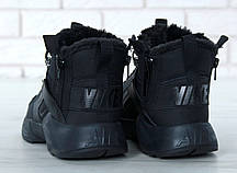Зимние кроссовки Nike Huarache X Acronym City Winter Black с мехом, мужские кроссовки. ТОП Реплика ААА класса., фото 2