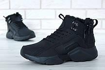 Зимние кроссовки Nike Huarache X Acronym City Winter Black с мехом, мужские кроссовки. ТОП Реплика ААА класса., фото 3