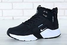 Зимние кроссовки Nike Huarache X Acronym City Winter Black/White с мехом. ТОП Реплика ААА класса., фото 3