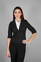 Пиджак женский с подкладкой черный(Жакет жіночий чорний), фото 1