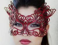 Кожаная ажурная маска Scappa