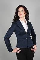 Пиджак женский молодежный с подкладкой синий (Жакет жіночий молодіжний з підкладкою синій)
