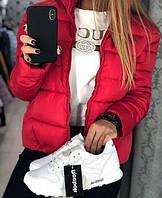 Женская модная стильная куртка 42, 44, 46, чёрный, красный, розовый, серый