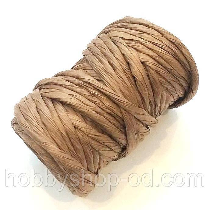 Бумажный шнур коричневый (примерно 14 м)