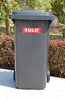 Мусорный бак для ТБО 240л SULO серый (Германия)