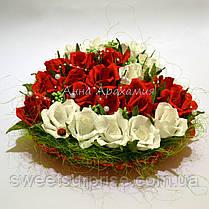 """Сердце из конфет """"Сладкая валентинка"""", фото 2"""