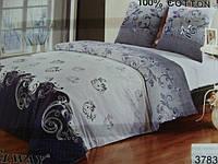 Сатиновое постельное белье полуторка ELWAY 3783