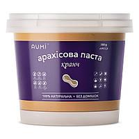 Арахисовая паста Кранч, 500г, с кусочками арахиса, 100% натуральная, без добавок