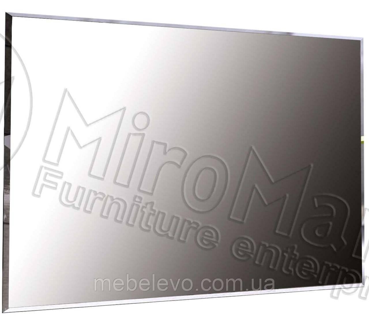 Флоренция / Florence Зеркало 100х80 800х1000х20мм дуб Сан Марино + белый глянец   Миро-Марк