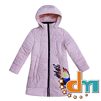 Пальто демисезонное для девочки Anernuo 1775, Розовый, 134