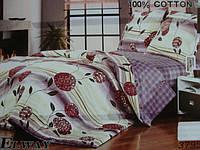 Сатиновое постельное белье евро ELWAY 3795