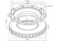 Диск тормозной 377x45 ECO Plus (0308834080BPW | MG30463)