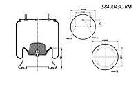 Пневмоподушка SAF 2618 2шпильки-воздух, болт крепления - M16 !!!! 4004NP02, W01M580919, 08409971, 1R11705,