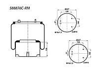 Пневмоподушка (с мет стаканом) DAF 3шпильки-воздух, 887MK1, W01M588683, 08406472, 1R11796 1T15LNR3 (887MK1  