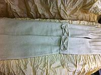 Длинные перчатки кашемировые   белые
