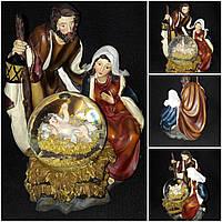 Красивый вертеп к Рождеству, поликерамика и стекло, выс. 16 см., 450 гр.
