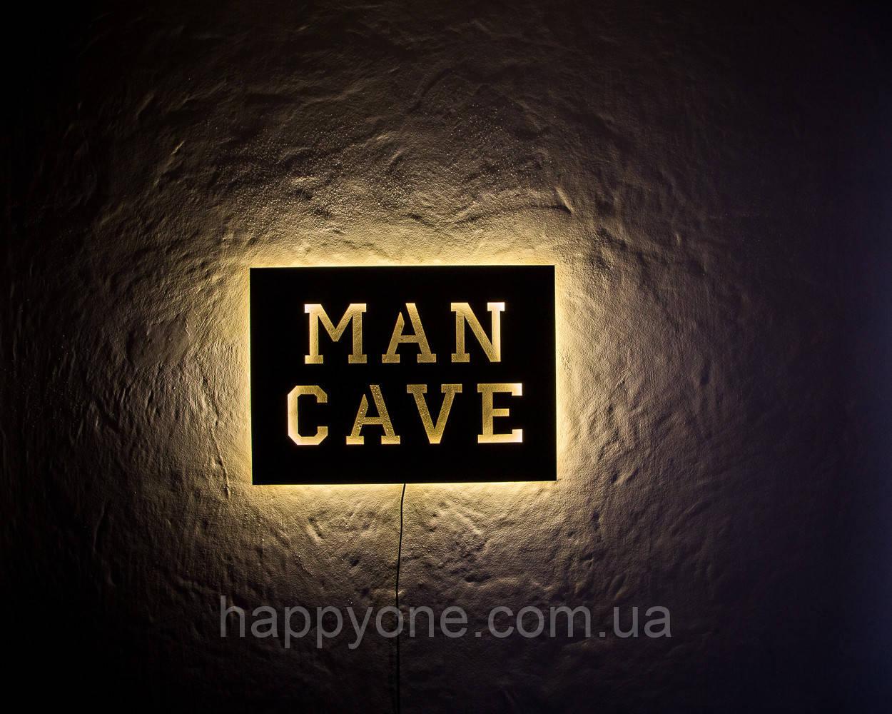 Светильник настенный Man Cave (желтый свет)