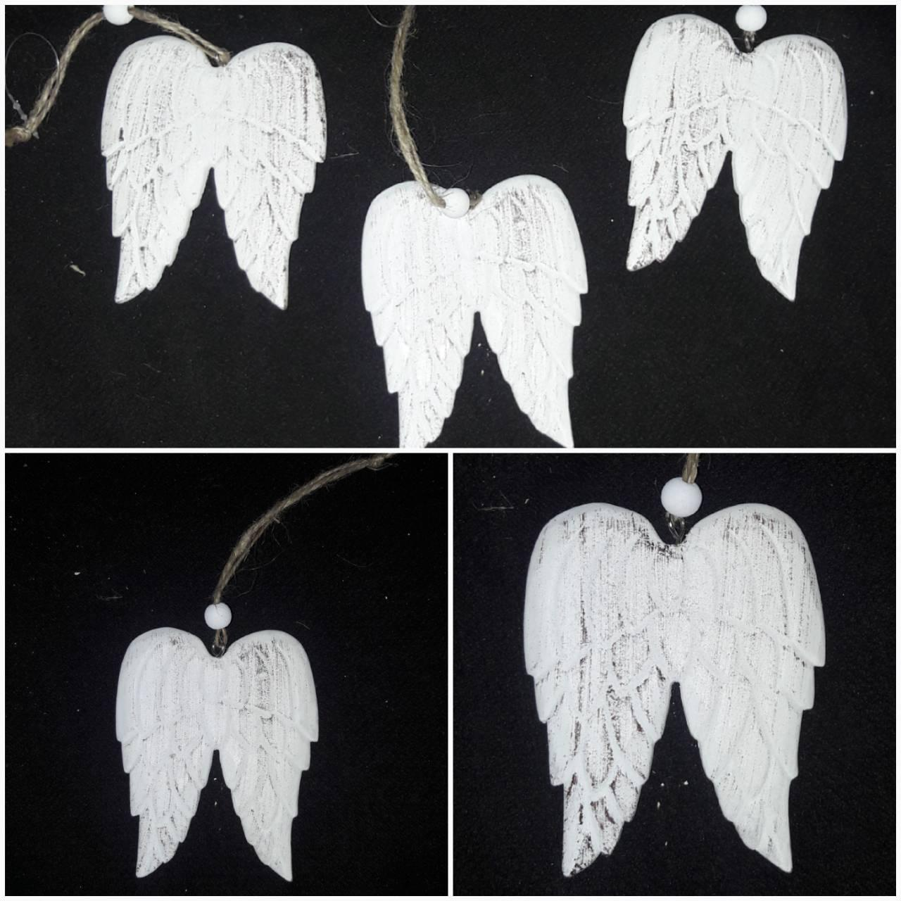 """Современная деревянная подвеска """"Крылья ангела"""", выс.9см., 32/26 (цена за 1 шт. + 6 гр.)"""