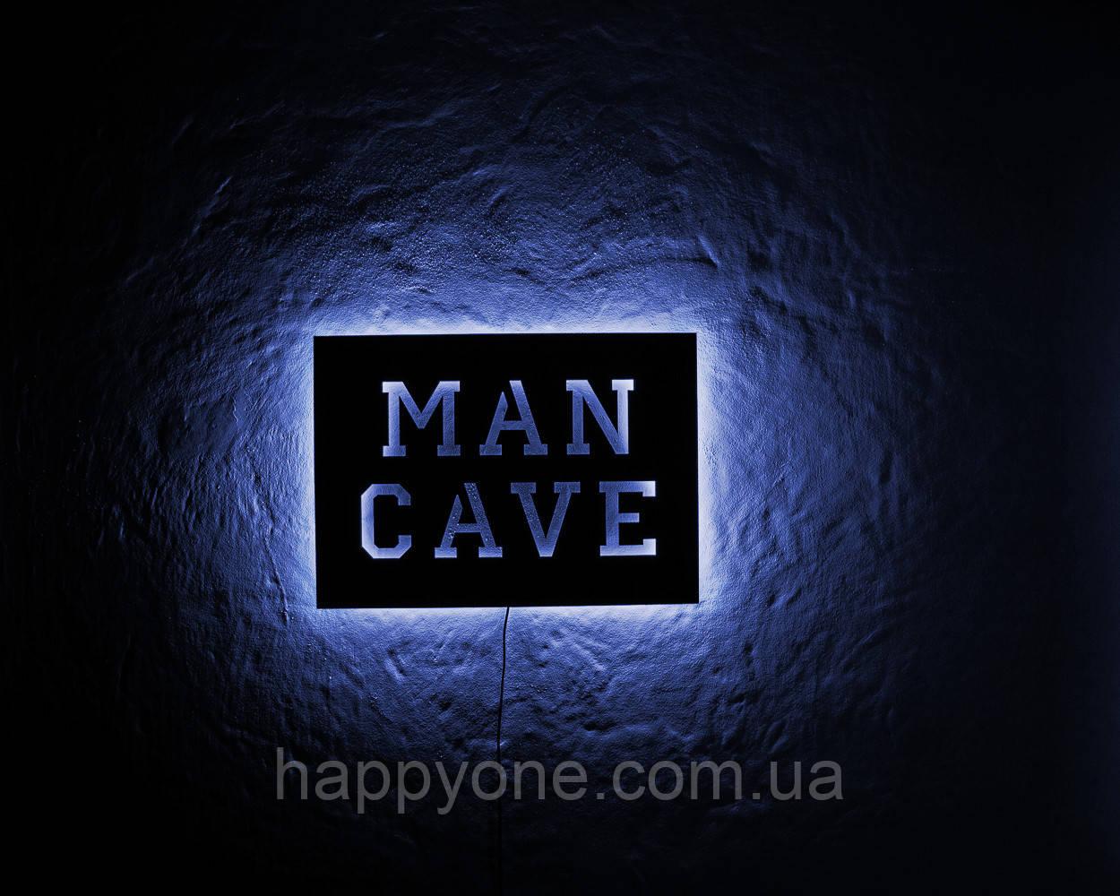 Светильник настенный Man Cave (синий свет)