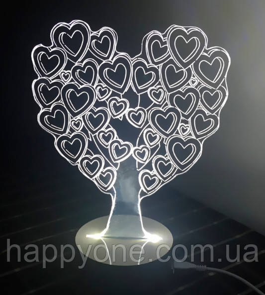 3D Светильник Love Tree