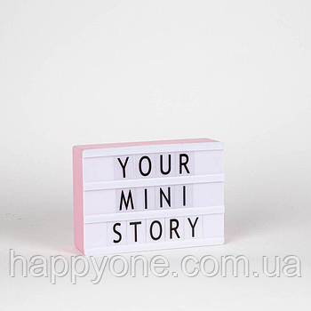 Ночник Лайтбокс Mini LEDR А6 (розовый)